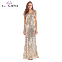 Light Gold Full Sequin Everning Dress