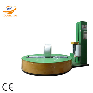 Automatic cylinder paper roll cellophane wrapping machine