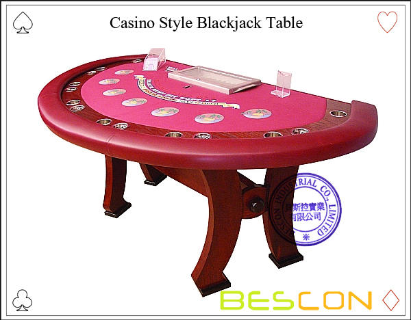 Casino Style Blackjack Table Luxury Half Round Solid Wood Poker Table With Dealer Position