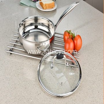 Stainless Steel Milk Pan Multi-function with Lid