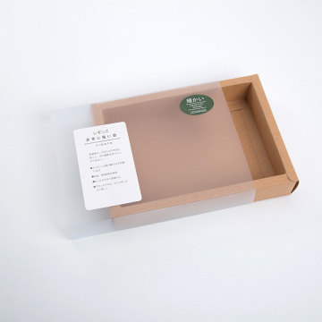 Brown kraft paper boxes with clear sleeve