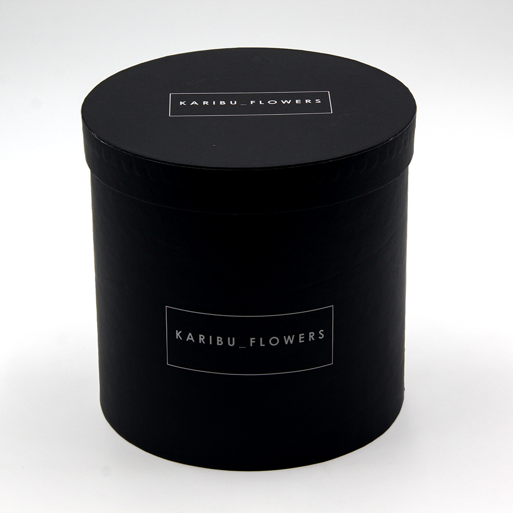 Wholesale Luxury Black Round Flower Paper Box 1