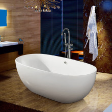 Acrylic Type Freestanding Solid Surface Soaking Bath Tub