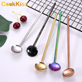 Eco-Friendly Multicolored Stainless Metal Straw Spoon