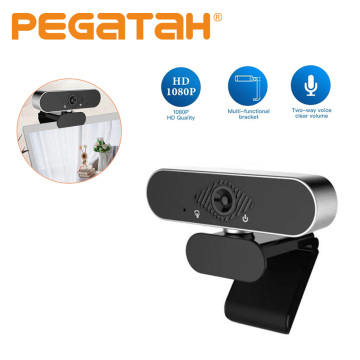 web camera for computer USB HD Webcam with rotatable 360° Built-in Dual Mics Smart For Desktop Laptops Game Cam 1080p cameras