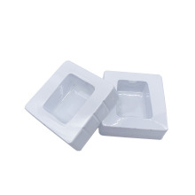 Plastic insert single thermoform white blister tray