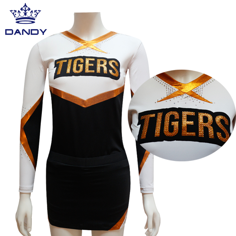 long sleeve cheer uniform