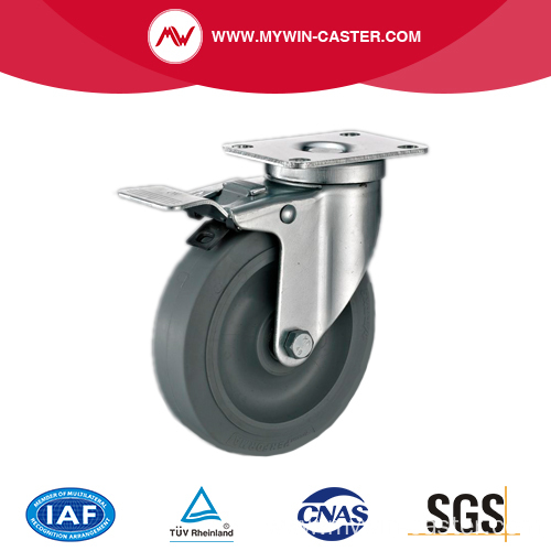 3'' Swivel Medium Industrial TPR Caster With PP Core With Brake