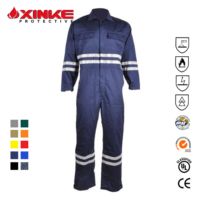 Safety Flame Retardant Anti-static Offshore Coverall
