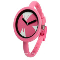 Silicone Thin Strap Quartz Watch for Sports Kids