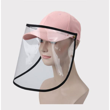 Prevent droplets protective faceshield mask snapback cap