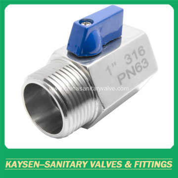 Sanitary PN63 Mini ball valve female to male