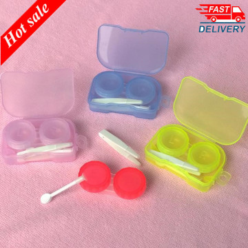 1PCS New Korean Style Small Fresh Portable Transparent Pocket Contact Lens Case Travel Kit Easy Carry Container Holder Women 20g