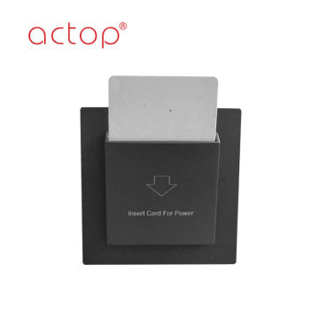 Hotel insert key card energy saving switch to get power