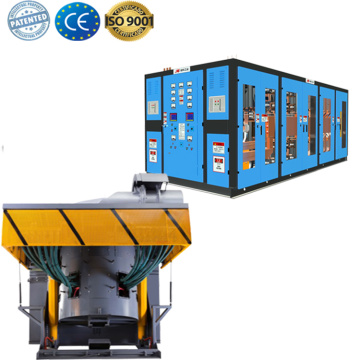industrial SCR type induction scrap metal smelter