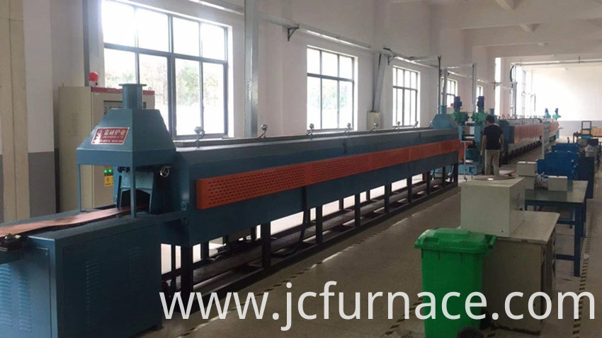 Continuous vacuum annealing furnace