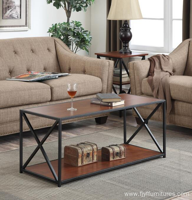 Wood and Metal Center Table Coffee Table Ideas