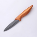 4 Inches Copper Handle Black Ceramic Knife