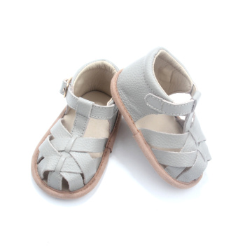 Barefoot Infant Slippers Baby Leather Sandals 2018