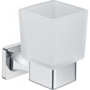 Zinc+brass Chrome Soap Dish With Glass Holder Accessories