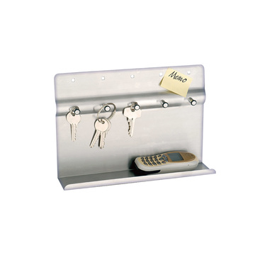 memo board with shelf  key hook magnets