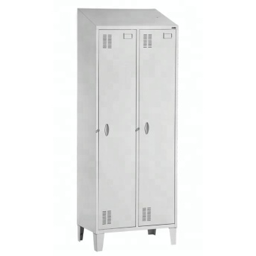 America 2 door sloping top locker with feet