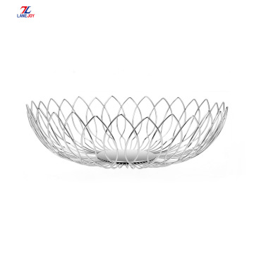 Stainless Steel wire fruit Storage Basket Fruit set