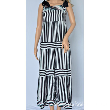 Women Patchwork Striped Dress
