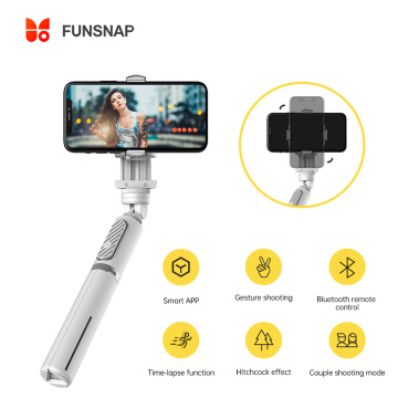 FUNSNAP Smartphone Gimbal Selfie Stick Pocket Stabilizer Palo Bluetooth Selfie Stick for Live Streaming Devices for iOS Android