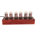 Electronic Digital Clock with Wooden Pedestal
