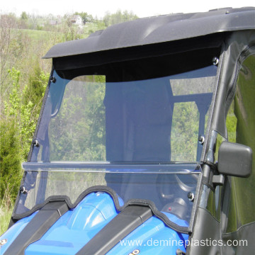 Hard coated clear polycarbonate sheet for ATV windshield