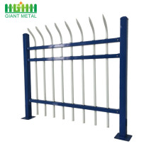 Loop top wrought iron fence