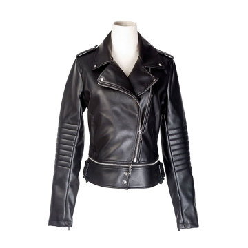 Women PU biker jacket