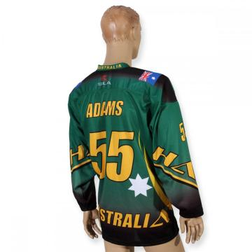 Professional team green sublimation female hockey jerseys
