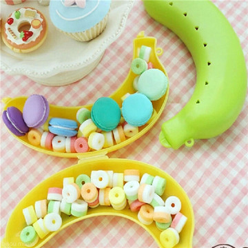 Cute 3 Colors Fruit Banana Protector Box Holder Case Lunch Container Storage TB Lunch Container Storage for kids protect fruit