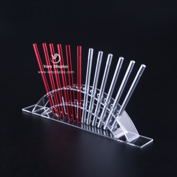 Customized countertop display clear acrylic pen holder