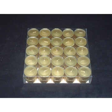 Unscented Long Burning Metallic Painted Tealight Candle