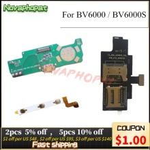 Novaphopat For Blackview BV6000 BV6000S USB Dock Charging Charger Port Power Volume Flex Cable Sim Card Holder Tray Board