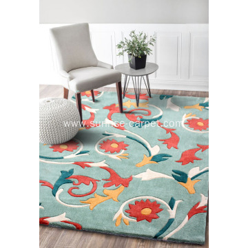 Hand tufted carpet rug modern design