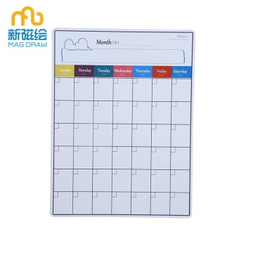 Custom Dry Erase Writable Kalender, White Board Magnets