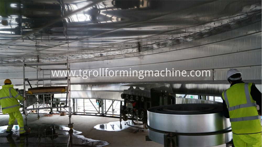 Rolling Sprial Steel Silo Forming Machine