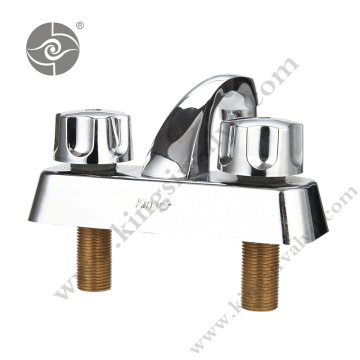 Double handle brass faucets