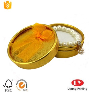 round necklace paper box with foam insert
