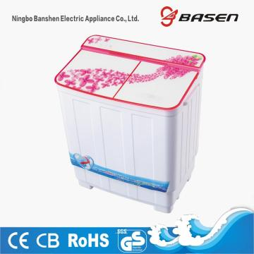 Red Glass Cover Top Loading 3.8KG Twin Tub Washing Machine