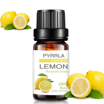 Pyrrla 10ml Lemon Pure Essential Oils For Aromatherapy Humidifier Purifying Air Orange Ginger Myrrh Massage Relax Essential Oil
