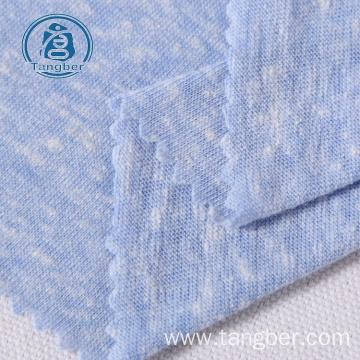 knitted polyester cotton rayon tcr slub jersey fabric