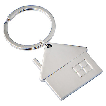 Latest Newly Design Small House Shape Metal Keychain