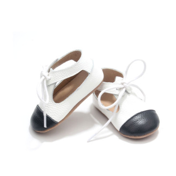 High Design Level Endearing White Leather Baby Shoes