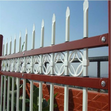 White Steel PVC Coated Picket Iron Fence