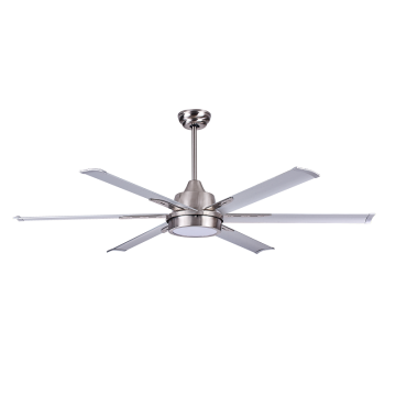 Ready to Ship Contemporary Anti Dust Brushed Nickel Ceiling Fan with Light Kit